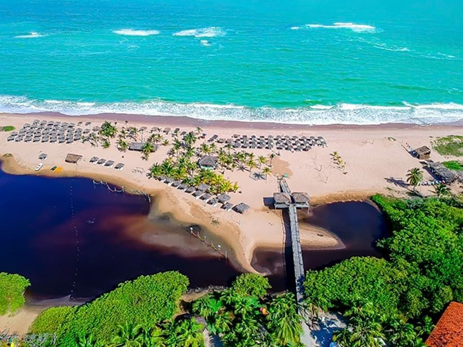 acesso privativo á praia